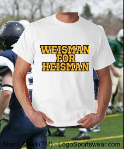 Weisman for Heisman Design Zoom