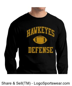 Hawkeyes Defense L/S Design Zoom